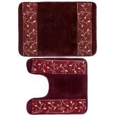Burgundy Bathroom Rugs Solid Burgundy Memory Foam 20 X 32 Bath Mat Free Shipping On