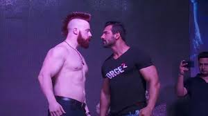 john abraham vs sheamus wwe star in force 2 movie promotion 2016