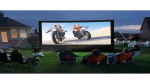 Backyard Projector Open Air Cinema 16 Feet Outdoor Home Projector Screen Youtube