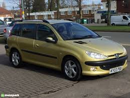 peugeot 206 sw diesel estate 2 0 hdi 90 d turbo motopark uk