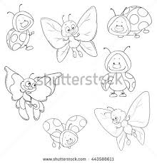 butterfly coloring pages vector stock vector 311139830 shutterstock