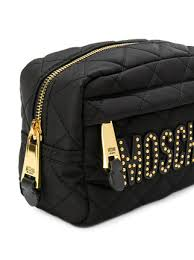 makeup bag moschino quilted makeup bag 225 shop ss18 online fast