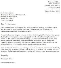 intake nurse cover letter