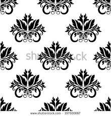 floral damask seamless pattern background ornamental stock vector