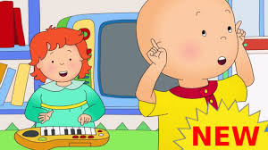 funny animated cartoons kids caillou watches rosie watch