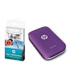 hp sprocket portable photo printer with paper packs 8590407 hsn