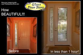 glass door tampa modern glass door inserts added to the front door