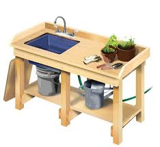 Garden Potting Bench Cool Garden Potting Bench With Sink Design Home Inspirations