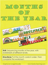 calendar activities have fun teaching