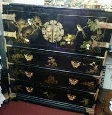 Oriental Credenza Oriental Furniture Chinese Corner Cabinet Black Lacquer Mother Of