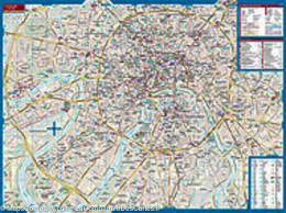 Moscow Russia Map City Map Of Moscow Russia Borch Map U2013 Mapscompany