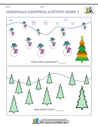 christmas maths worksheets