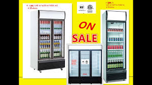 nsf refrigerator glass door beer flower cooler refrigerators