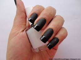 black matte nail polish matte black acrylic nail designs now