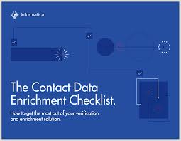the contact data enrichment checklist