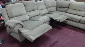 Gray Microfiber Sectional Sofa by Grey Microfiber Sectional Sofa With Reclining And High Backrest