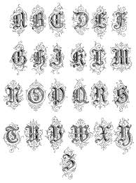 old english style letter types of ty pog ra phy
