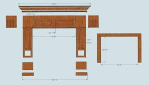Fireplace Floor Plan Diy Fireplace Surround For Electric Faux Mantel And Kits 1764
