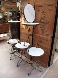 antique marble bistro table set of 6 french vintage iron cafe bistro tables with round marble