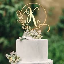 k cake topper customised monogram wedding cake topper letter k globalwedding