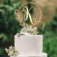 k cake topper customised monogram wedding cake topper letter k globalwedding