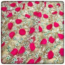 designer fabric floral embroidered net designer fabric india s one stop