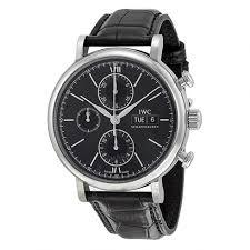 watches chronograph iwc portofino automatic chronograph black s