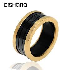 10mm ring new fashion men brands rings 10mm titanium band wedding