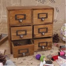 Desktop Cabinet Online Online Shop Zakka 6 Drawer Storage Box Groceries Vintage Wooden