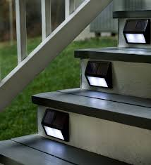 Solar Patio Lighting Stairwell Lighting Fixtures Solar Install