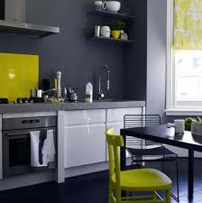 decorating ideas for grey and white kitchen gray table yellow