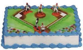 baseball cake toppers baseball cake kit 5 figures toys