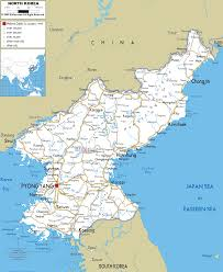 North Asia Map by Road Map Of North Korea Ezilon Maps East Asian Federation