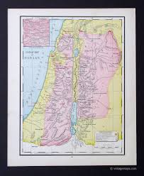 Map Of Canaan Bible History Vintage Maps