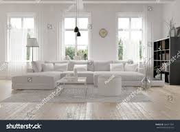 modern spacious lounge living room interior stock illustration