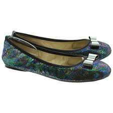 butterfly twists folding bow shoes in black snake skin in