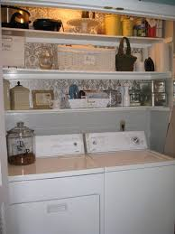 Storage Shelves For Small Spaces - furniture tasteful small laundry room decor with white stained