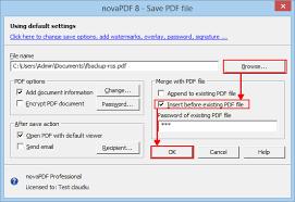 merge pdf files with novapdf