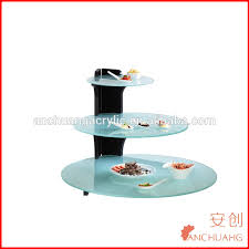 3 tires round acrylic buffet display stand for outdoor party