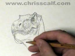 11 minute dinosaur sketch time lapsed down to 3 min 16 sec