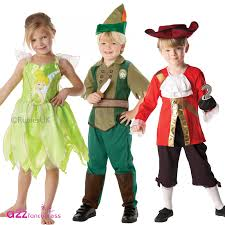 boys girls peter pan captain hook tinker bell disney kids fancy