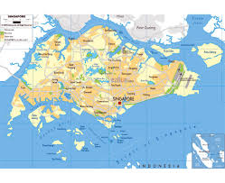 Physical Map Of East Asia by Maps Of Singapore Detailed Map Of Singapore In English Tourist