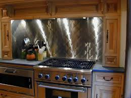 kitchen with stainless steel backsplash cooktop backsplash stainless steel home design ideas