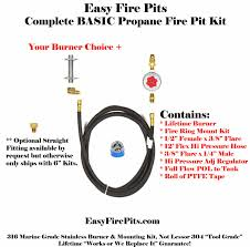 Natural Gas Fire Pit Kit Product Finder Easyfirepits Com Top Source For Diy Gas Fire Pit
