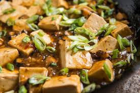 vegetarian mapo tofu dining and cooking
