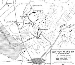 D Day Map The Airborne Assault Utah Beach To Cherbourg