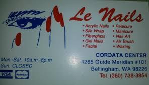 le nails cordata center 4265 guide meridian unit 101 bellingham