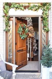 classic southern magnolia christmas front porch maison de pax