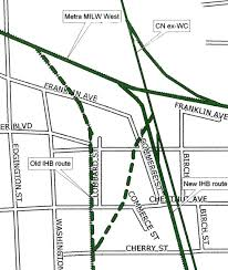 Chicago Metra Map by Chicago Rail Junctions Franklin Park