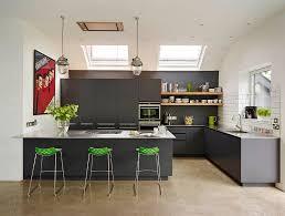 grey and green kitchen grey kitchen ideas green bar stools chrome pendant light floating